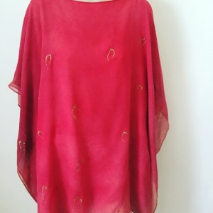Hand Painted Double Chiffon tunic $500