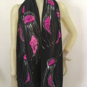 Hand Painted Silk Scarf $270