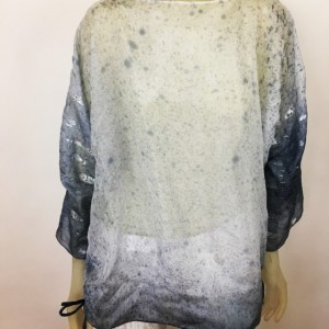 Hand painted silk blouse $450