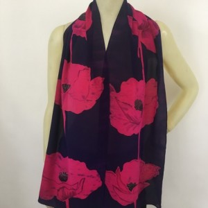 Hand Painted Silk Scarf $200