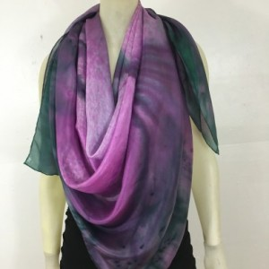 Hand Painted Silk Scarf $300