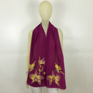 Hand Painted Silk Scarf $250