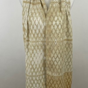 Raw Silk Shibori Scarf
