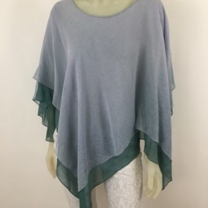 Hand Painted Silk Poncho $350