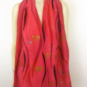 Hand Painted Silk Scarf $150