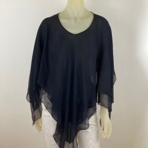 Hand Painted Silk Poncho$350