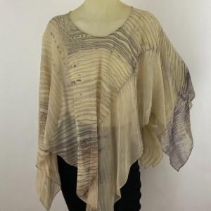 Shibori Silk Poncho $300