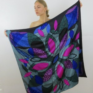 Hand Painted Silk Scarf $600