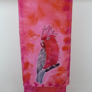 Hand Painted Silk Scarf $350