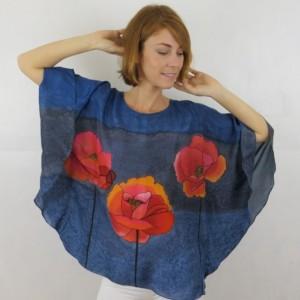 Hand Painted Silk Tunic $500