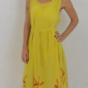 Hand Painted Dress by Irina Grammatina $600 Please contact Irina for availability.